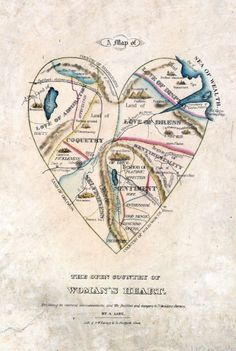 A Map of the Open Country of a Woman's Heart de D.W. Kellogg & Co