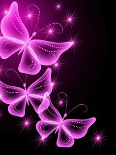 Hot pink butterflies