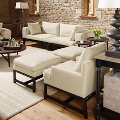 Manhattan Wood Frame Footstool - White 74x55 42