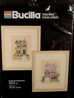 In The Neighborhood Bucilla Counted Cross Stitch Kit Sealed Steinmeyer Designer