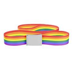Gay Pride Rainbow Flag Braces Suspenders For Fancy Dress Parties.