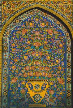 golestan palace tiles - Google Search Tile Art, Mosaic Art, Mosaics, Islamic Tiles, Islamic Art, Miracles Of Islam, Persian Pattern, Islamic Paintings, Iranian Art