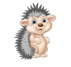 Hedgehog cartoon cute vector