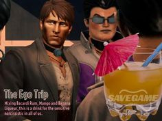 We present to you our Celebration of the Saints: A series of Saints Row themed cocktails. Cocktail Recipes, Cocktails, Ego Tripping, Bacardi Rum, Saints Row, Its My Bday, After Hours, Drinking Games, Bebe