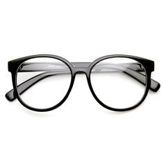 Retro Fashion Oversized P3 1980s Style Frame Clear Lens Glasses - sunglass.la - 1