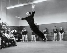"""Joan Acocella on """"Balanchine Teaching,"""" which shows the choreographer George Balanchine at work at the School of American Ballet. City Ballet, Ballet Class, Ballet Dancers, Ballerinas, George Balanchine, George Chakiris, Ballet Shows, Ballet Painting, Vintage Ballet"""