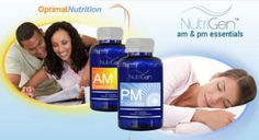 Nutrigen AM and PM Not Just Another Vitamin   AM & PM Essentials™     These unique dietary supplements slow the symptoms of premature aging. Potent vitamins and minerals target DNA and delay telomere deterioration.     AM Essentials™ supplements release energy-enhancing nutrients that bring mental clarity and focus.     The PM Essentials™ formula balances systems for a restful sleep.  www.CellCareForYou.JeunesseGlobal.com Preferred Customer & Distributor Pricing available.