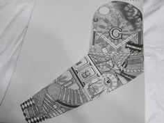 Masonic Sleeve by gdc1072 on @DeviantArt