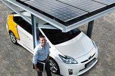 Nutzen Sie unseren Solar-Carport als Solartankstelle für Ihr Elektroauto oder nutzen Sie den Strom als Haushaltsstrom, ganz wie Sie wollen.