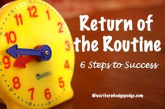 Free ebook: Return of the Routine – Six Simple Steps to Success