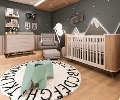 18 New Nurseries To Adore interiordesignsho… - Babyzimmer Ideen Baby Boy Bedding, Baby Boy Rooms, Baby Bedroom, Nursery Room, Kids Bedroom, Baby Room Design, Nursery Inspiration, Baby Decor, Baby Room Decor For Boys