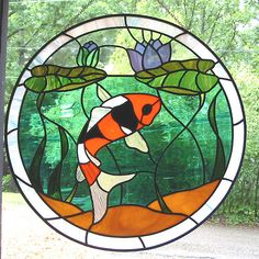 Its a Koi in stained glass Stained Glass Suncatchers, Stained Glass Crafts, Stained Glass Designs, Stained Glass Patterns, Stained Glass Church, Stained Glass Panels, Glass Animals, My Glass, Mosaic Glass