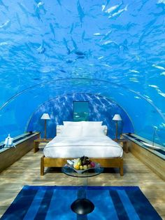 Terrifying Or Thrilling? Judge This Travel Trend For Yourself #refinery29  http://www.refinery29.com/underwater-hotels