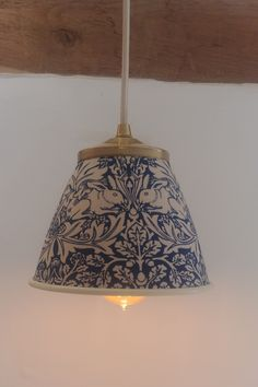 "Beautiful William Morris ""Brer Rabbit"" fabric on a metal shade. pendant/wall light etc Lamp, Pendant Wall Lights, House Styles, William Morris, Lights, Beautiful Lighting, Home Design Decor, Hearth And Home, Light"