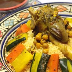Addiction to Moroccan traditional vegetable couscous is invincible..