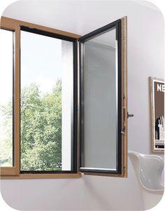 coin de profil d 39 une fenetre bois alu idealu 78 remplacer ses fen tres pinterest fenetre. Black Bedroom Furniture Sets. Home Design Ideas