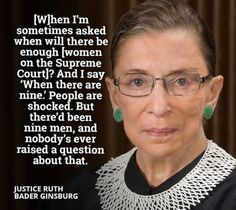 Feminist Celebrity& Quotes QUOTATION – Image : As the quote says – Description Notorious RBG – love her! 😀 A tiny old woman with an immense brain and spirit, and the strength of a superwoman! A hero to me. Sharing Brings Happiness – Don't forget to. Cogito Ergo Sum, The Words, I Look To You, Justice Ruth Bader Ginsburg, Important Quotes, Intersectional Feminism, Badass Women, Patriarchy, Thats The Way