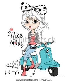 cute girl,T-shirt Graphics/girl vector