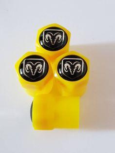 DODGE Wheel Valve Dust Caps EXCLUSIVE To Us All Models Premium deluxe non stick (Plastic Caps) 7 colors to choose