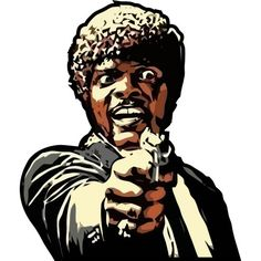 Pulp Fiction Samuel L Jackson Say What Again Stickers2ouf, fun patch decal for everywhere !