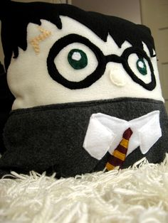 Harry Potter Pillow - Harry Potter. $22.00, via Etsy.