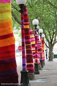 Yarn bombing in Johannesburg, SA