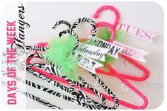 DIY Zebra Duct tape hangers! Adisyn would love!
