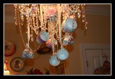 a chandelier gone mad hatter