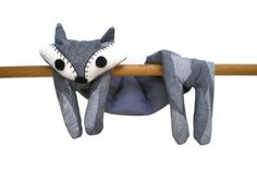 Flat Fox Neck Rice Heat Pad - Hot Cold Rice Bag - Microwave Neck Wrap - Rice Heating Pad - Hot Cold Therapy Pack - Grey Feather & White Fox - pinned by pin4etsy.com
