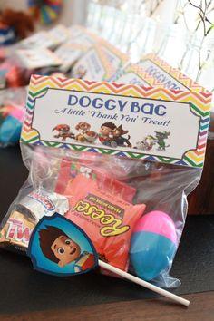 Paw Patrol 'Doggy Bag' Treat Bag Topper by ModInkDesign on Etsy, $4.00