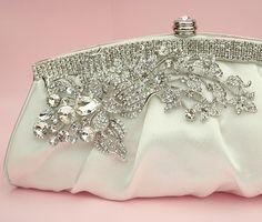 crystal bridal clutch