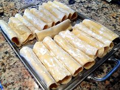 Manicotti Shells made from scratch with just egg, flour, and the KitchenAid Mixer/Pasta Roller.