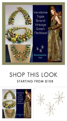 """""""Vendome Vintage Necklace"""" by renaissance-fair ❤ liked on Polyvore featuring Uttermost and vintage"""