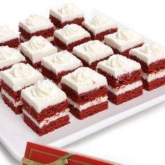 Red Velvet Petit Fours recipe - http://www.myrecipes.com/recipe/raspberry-red-velvet-petits-fours-10000001921288/ YUM!!