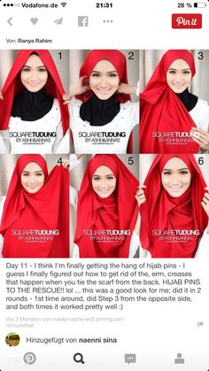 Latest Arabian & Pakistani Hijab Styles & Designs Tutorial for Modern Asian Girls with images & pics. New hijab styling and wearing methods are included in this post! Hijab Musulman, Turban Hijab, Hijab Pins, Muslim Hijab, Hijab Chic, Hijab Dress, Hijab Outfit, Scarf Outfits, Square Hijab Tutorial