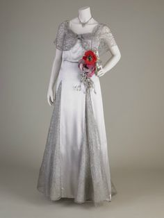 Callot Soeurs Ltd, Evening dress, 1936. Woven net; Silk - satin. Gift of Lady Hoyer Millar, 1961. Lady Lever Art Gallery collections, 1961.246.23 ©National Museums Liverpool.