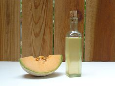 DIY melon infused vodka with less sugar than store bought. Ingredients : 2 cups chopped cantaloupe, 1 1/2 cups vodka, 1 cup sugar and 1 cup water. It takes about 3 days to make and last up to 2 months. Yum!