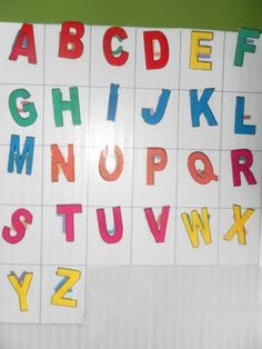 Teaching Letters at Home