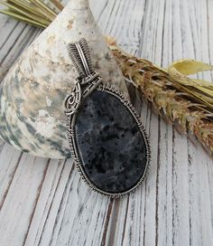 Sterling Silver Wire Wrap Pendant Necklace by FearlessCreationsbyJ