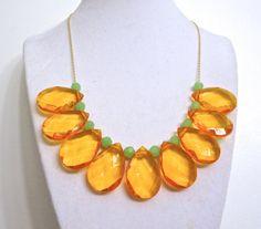 Large Statement Necklace  Orange Tangerine by ASimpleKindOfFancy, $26.00