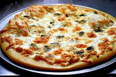 Roasted acorn squash and Gorgonzola pizza
