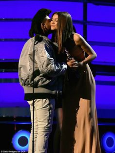 Tribute:Unable to speak at points in his speech, The Weeknd (pictured with Zendaya) said, 'I love him so much. I didn't know him, but he was so close to me. He will always be an inspiration'