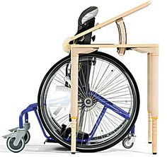 """The """"Rifton MultiDesks - Wheelchair Desks"""" may be very beneficial for children/adolescents who are suffering from a physical impairments and bound to a wheelchair. This assistive device, which can be adjusted in several positions, allows the student to be comfortable while they are in the classroom setting. This device is very accommodating and can be purchased at $552.00"""