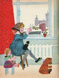 Дети с игрушками в книжных иллюстрациях. Татьяна Алексеевна Ерёмина