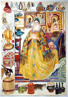 Вениамин Николаевич Лосин (1931—2012) — советский и российский художник-иллюстратор.(705×1000)