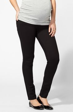 Ingrid & Isabel® Ponte Knit Skinny Maternity Pants available at #Nordstrom