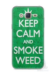 Capa Capinha Samsung J7 Keep Calm and Smoke Weed