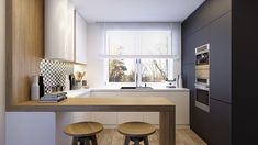 Open kitchen designs for small spaces - - Kitchen Design Open, Small Space Kitchen, Contemporary Kitchen Design, Open Kitchen, Kitchen Dinning, Home Decor Kitchen, Kitchen Interior, Home Kitchens, Small Spaces