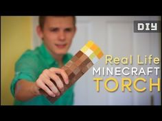 ▶ How to make a Real Life Minecraft TORCH (DIY) - YouTube