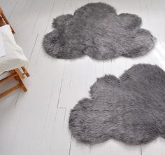 Cut a rug in the shape of a cloud.